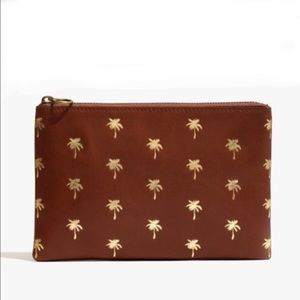 Madewell Leather Palm Trees Pouch NWT